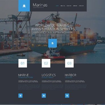 Shipping Website Templates