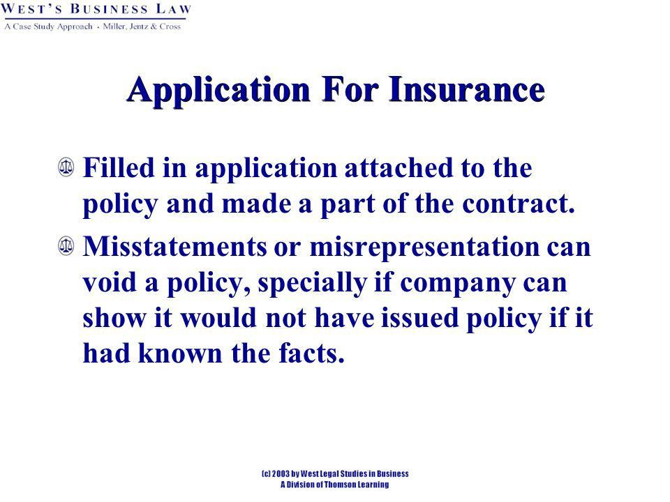 Chapter 49 Insurance. Insurance Insurance is a contractual ...