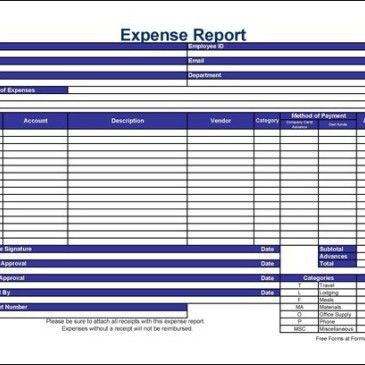 Simple Expense Report Template Archives - Word Templates