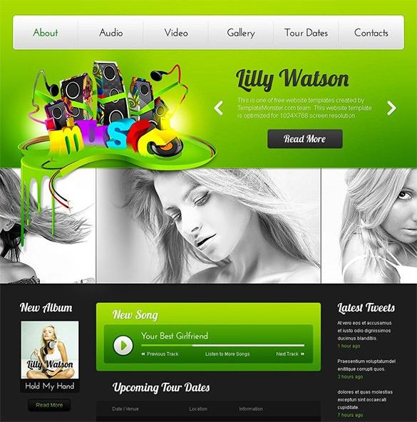 30+ Music HTML5 Themes & Templates | Free & Premium Templates