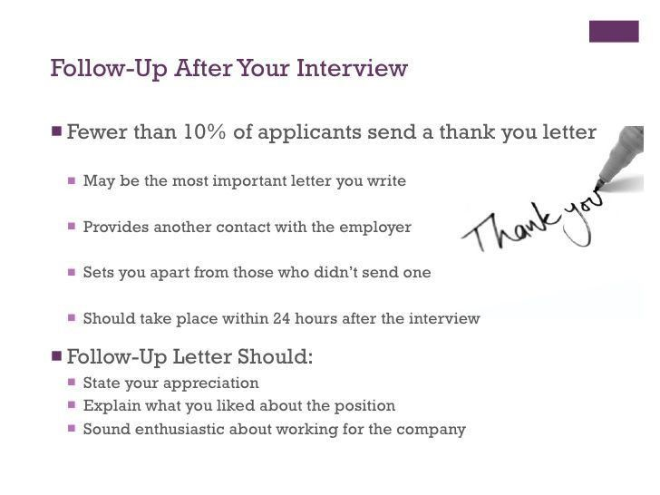 follow up letter to interview