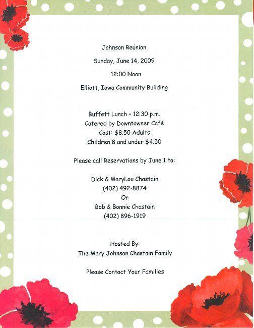 17+ Family Reunion Party Invitations | Party Ideas