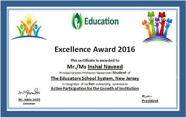 MS Word Education Excellence Award Certificate Template | Word ...