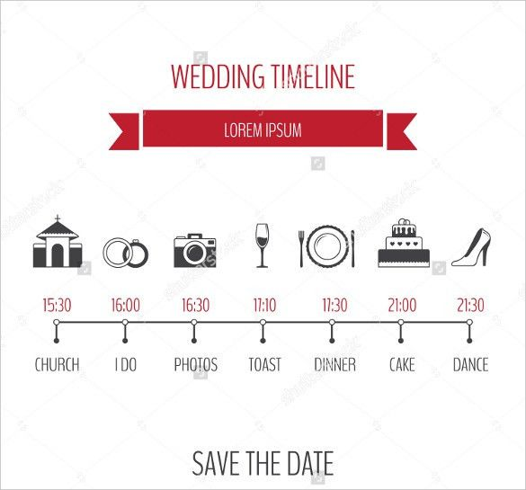 34+ Wedding Timeline Templates – Free Sample, Example, Format ...