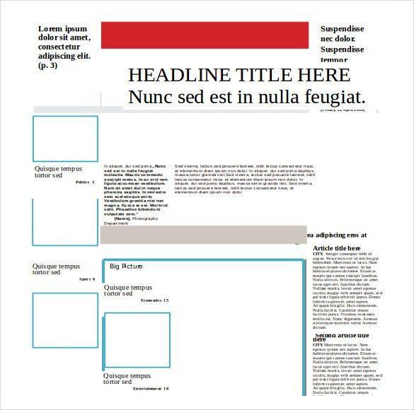 14+ Word Newspaper Templates Free Download | Free & Premium Templates