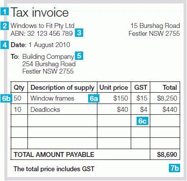 Invoice Template Australia Abn | invoice example