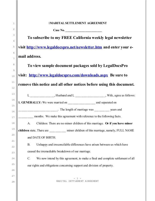 examples of custody agreements. separation agreement template ...