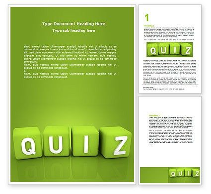 Quiz Word Template 06875 | PoweredTemplate.com