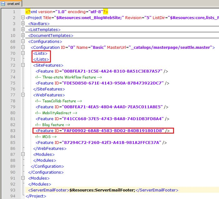 What are the changes in Site Definition or onet.xml file of Blog ...