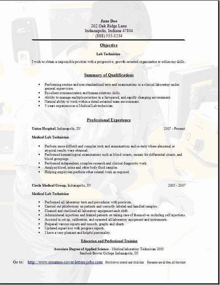 Lab Technician Resume3 | Things to Wear | Pinterest | Geography