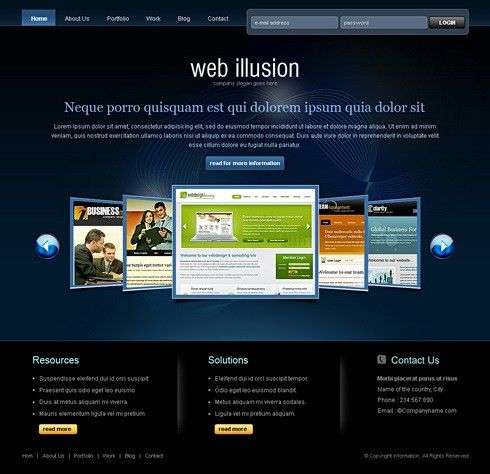 6477 - Web Design & Consulting - Website Templates - DreamTemplate