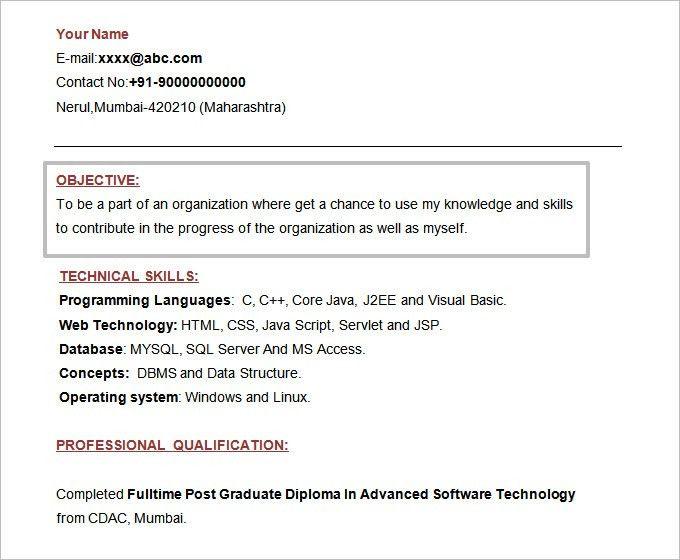Simple Objective For Resume | haadyaooverbayresort.com
