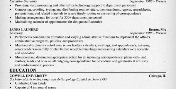 secretary cover letter receptionist resume secretary resume ...