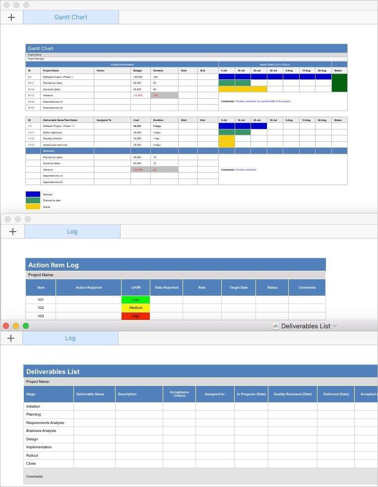 Sample Chart Templates » Work Plan Gantt Chart Template - Free ...