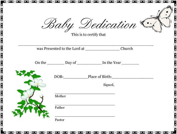 Baby Certificate | Download Free & Premium Templates, Forms ...