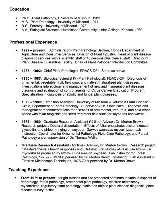 10+ Agriculture Resume Templates - Free PDF, Word, Samples