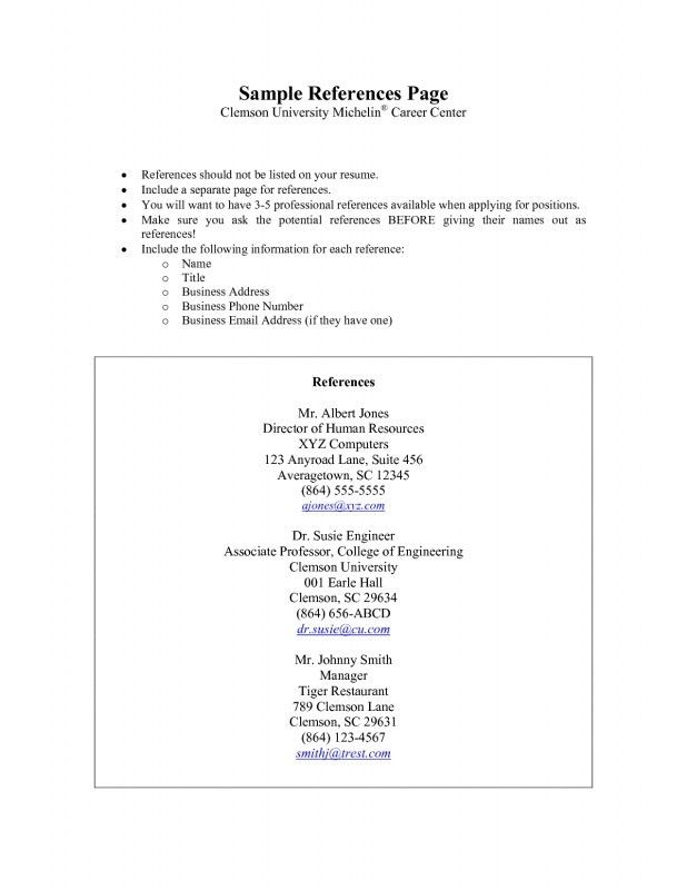 how to make a reference page for a resume samples of resumes