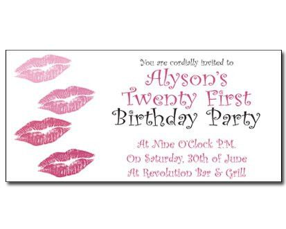 21st birthday invitations and special occasions 21st birthday ...