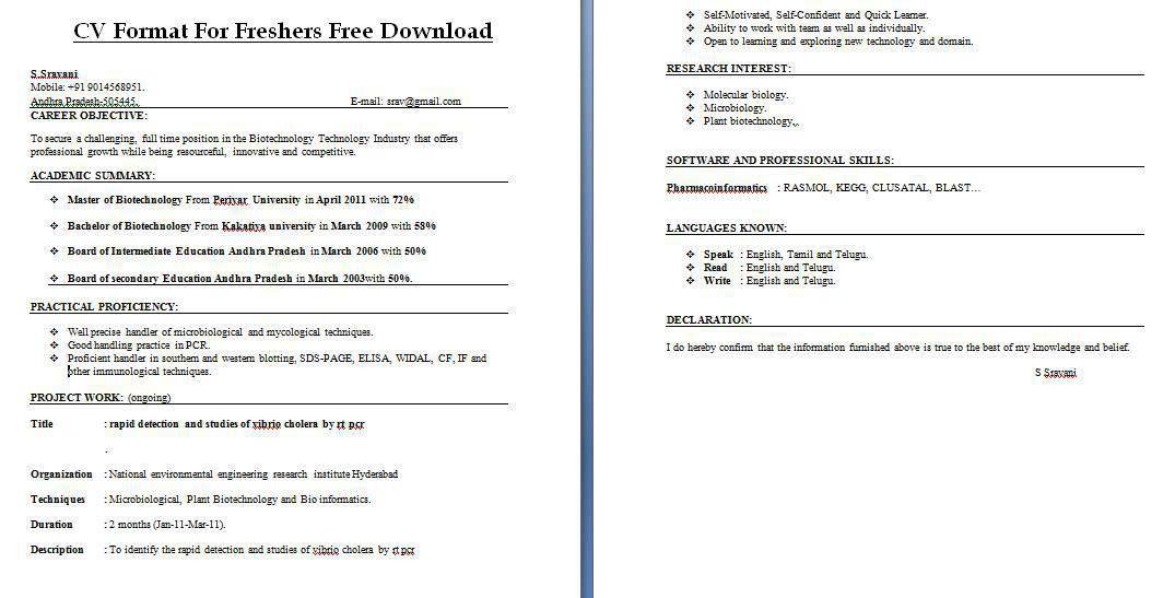 resume template best free resume templates download for freshers ...