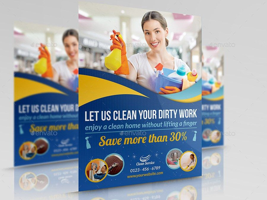 Cleaning Services Flyer Template Vol2 by OWPictures | GraphicRiver