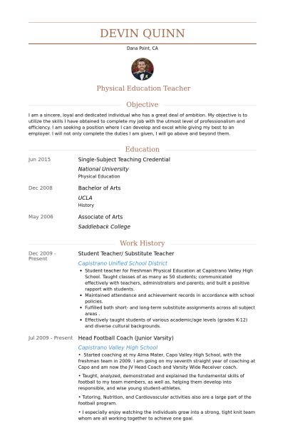 Student Teacher Resume samples - VisualCV resume samples database