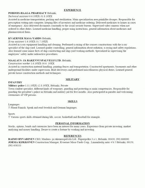 Curriculum Vitae : Mississauga Hardware Centre Inc Summary Of ...