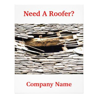 Roofing Company Business Flyer | Zazzle.com