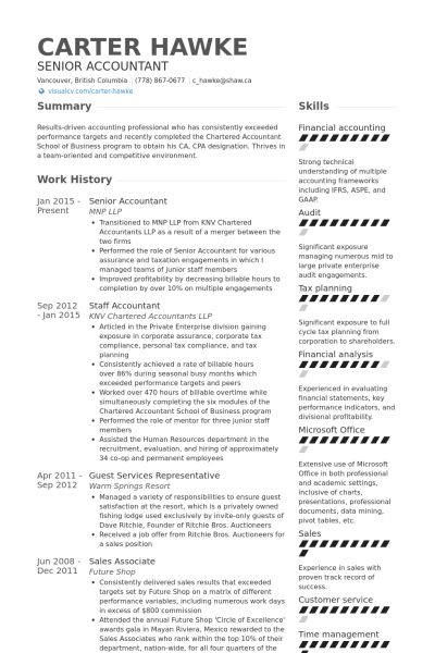 Stylish And Peaceful Staff Accountant Resume 8 Resume Sample For ...