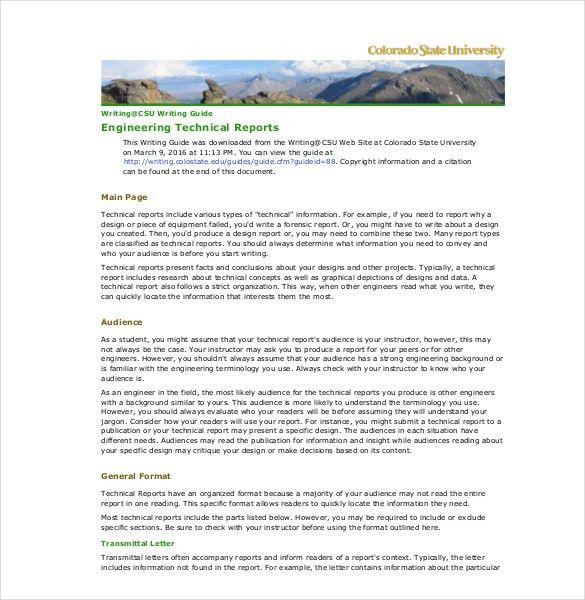 10+ Technical Report Templates - Free Sample, Example, Format ...
