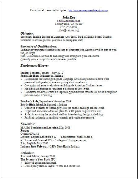 chronological resume chronological resume format sample