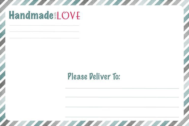 Try These Free and Stylish Address Templates | Address label ...