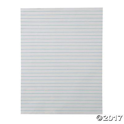 Magnetic Jumbo Dry Erase Lined Paper Charts - Oriental Trading