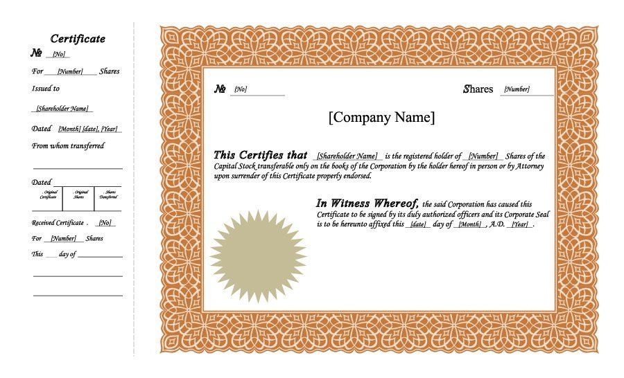 40+ Free Stock Certificate Templates (Word, PDF) - Template Lab