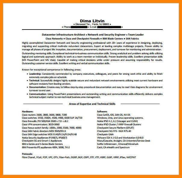 Linux Network Engineer Resume - Ecordura.com