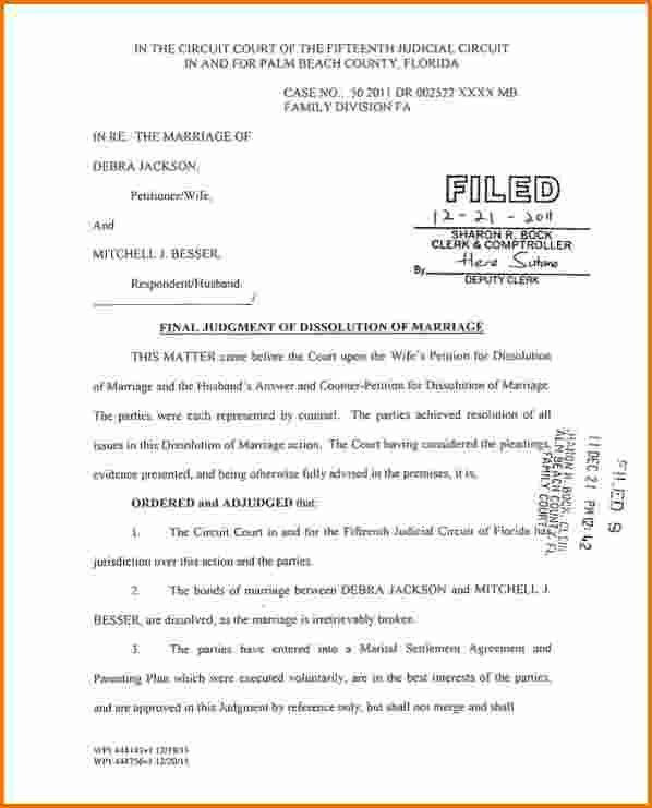 6 florida divorce papers | Divorce Document