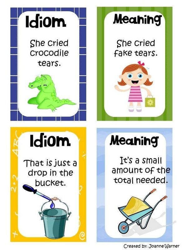 Idioms - Mrs. Warner's 4th Grade Classroom