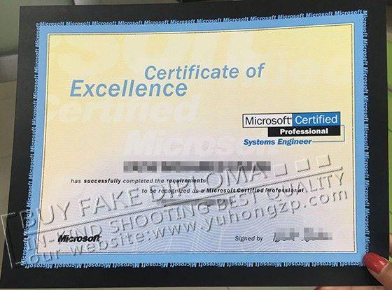 Fake Microsoft certificate, buy fake Microsoft certificate of ...