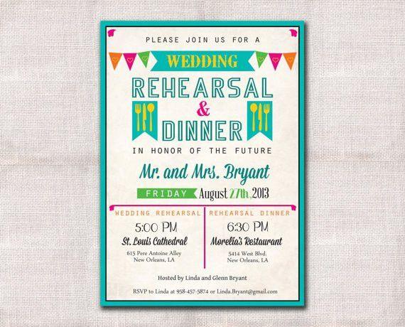 Fiesta Wedding Rehearsal Dinner invitation custom printable