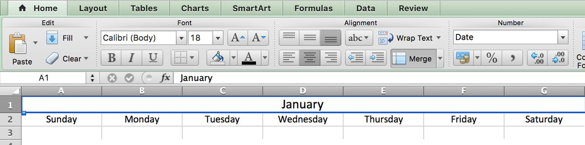 Make a 2017 Calendar in Excel (includes free template)
