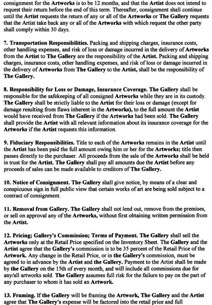 Painting How To: Artist Contracts and Agreements ...