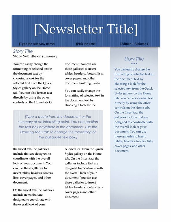 Newsletter (Executive design, 2 pages) - Office Templates