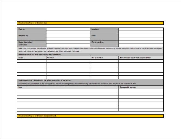 12+ Health and Safety Plan Templates – Free Sample, Example ...