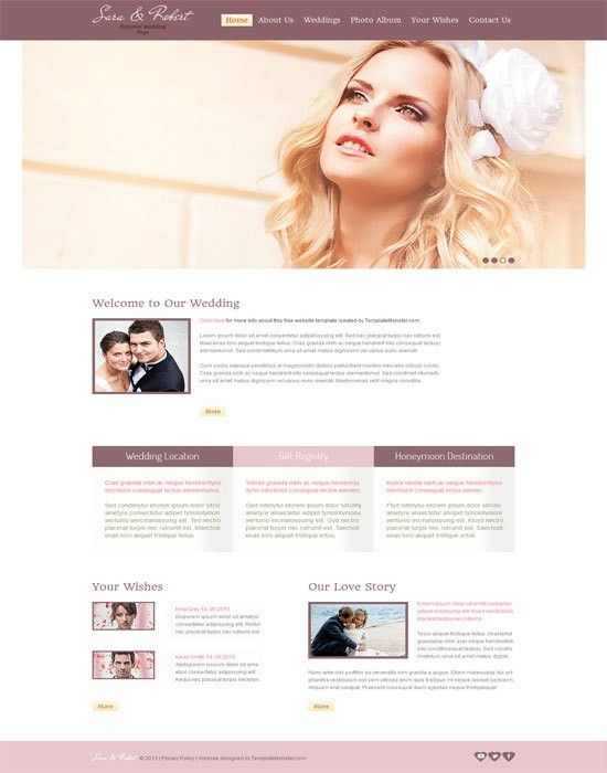 60+ Beautiful Wedding Website Templates Free & Premium - wpfreeware