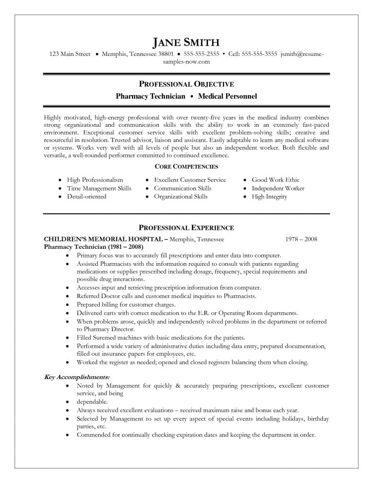 Extremely Creative Pharmacy Technician Resume Example 16 Resume ...