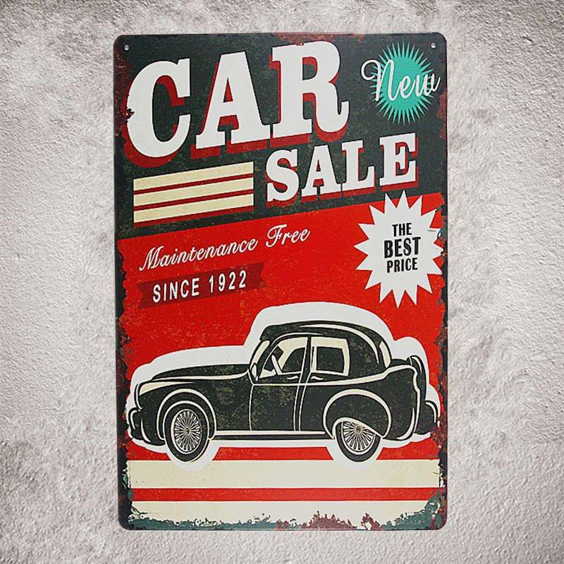 Aliexpress.com : Buy Vintage Shabby chic Metal Tin Signs Garage ...