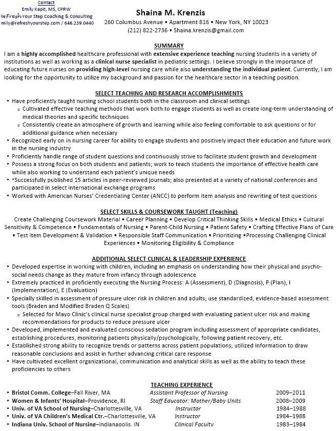 nursing instructor resume the best of magic resume - Clinical Instructor Resume