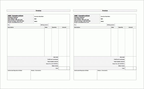 Construction Receipt Template – 8+ Free Sample, Example, Format ...