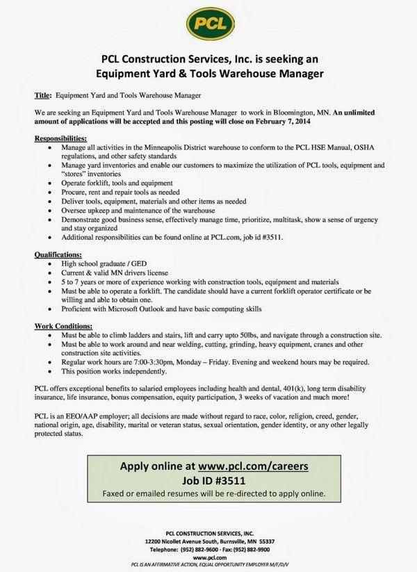 warehouse worker resume example warehouse operator resume sample ...