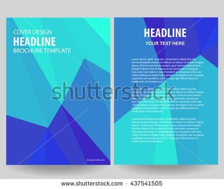 Triangle Design Vector Template Layout Magazine Stock Vector ...