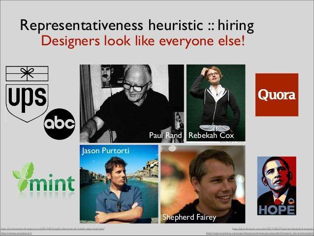Representativeness heuristic :: hiring Designers